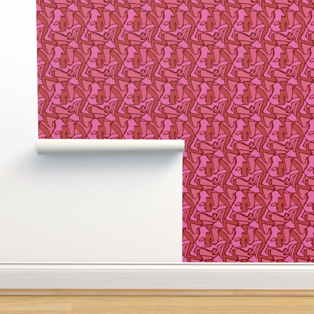 Isobar Durable Wallpaper featuring Pink Camo - Large by whyitsme_design