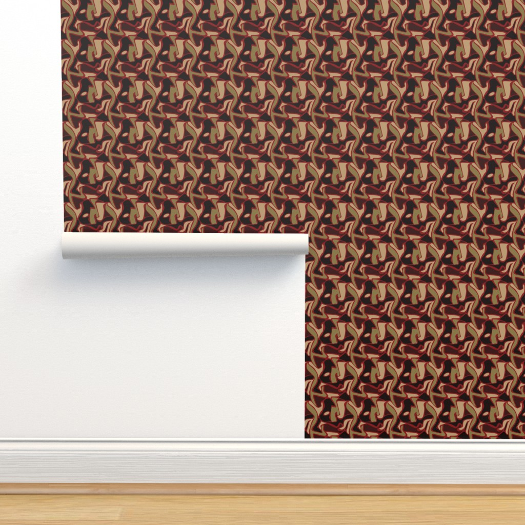 Isobar Durable Wallpaper featuring Olive & Red Camo by whyitsme_design