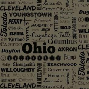 Ohio cities 2, dark khaki