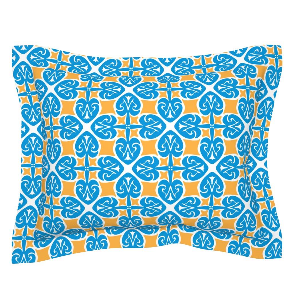 Sebright Pillow Sham featuring Marrakesh Blue by artonfabric