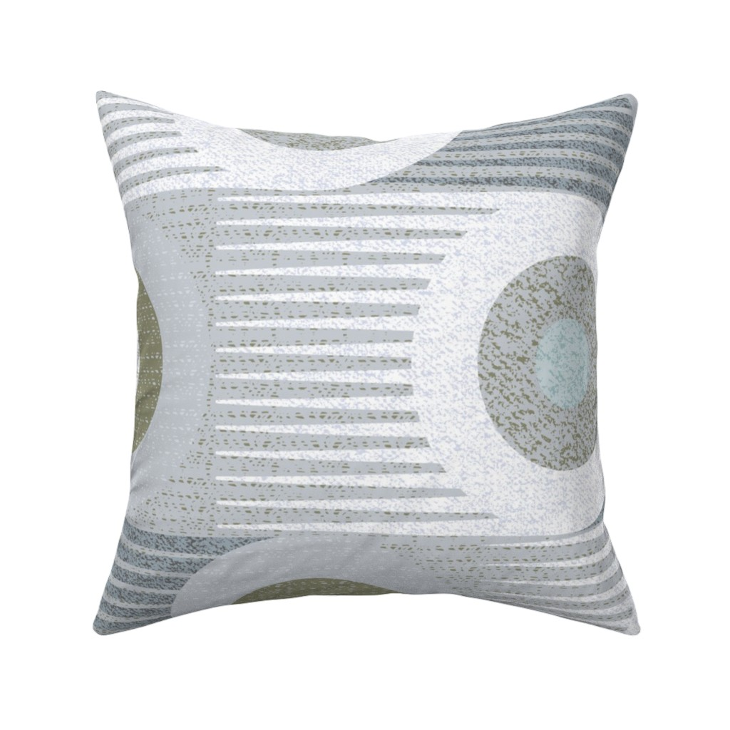Catalan Throw Pillow featuring Moving too fast -jumbo large scale circles 60s 70s by ottomanbrim