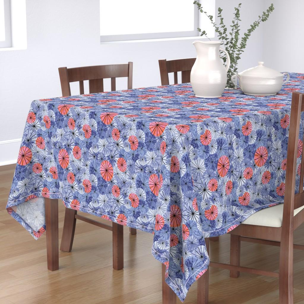 Bantam Rectangular Tablecloth featuring cycling by vivdesign
