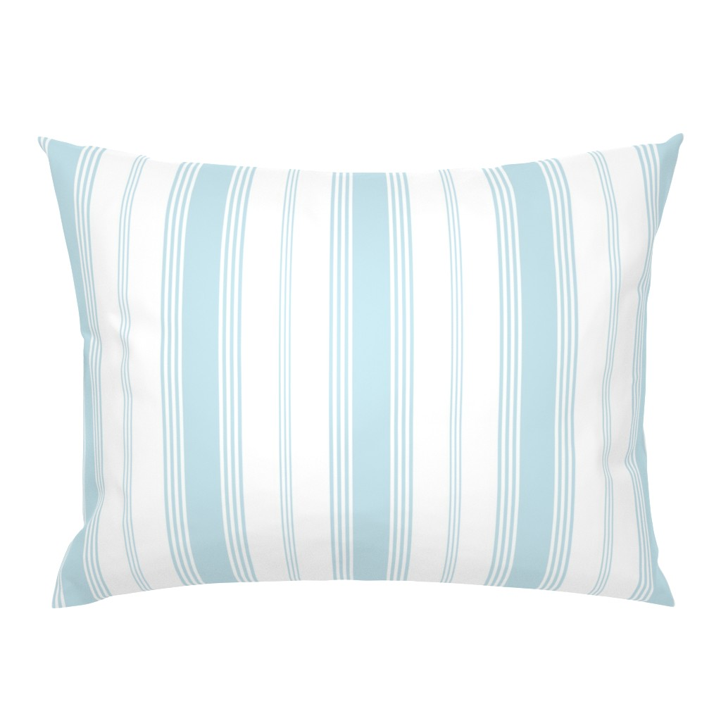 Campine Pillow Sham featuring Topsail Stripe aqua by lilyoake