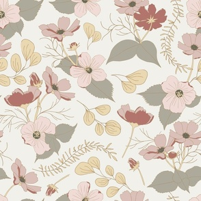 dolls & flowers // red-orange // little matryoshka collection