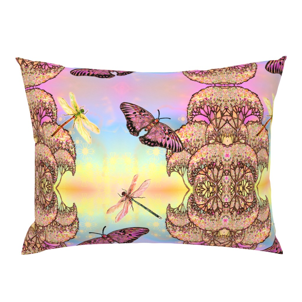 Campine Pillow Sham featuring Flight in warm air by snarets
