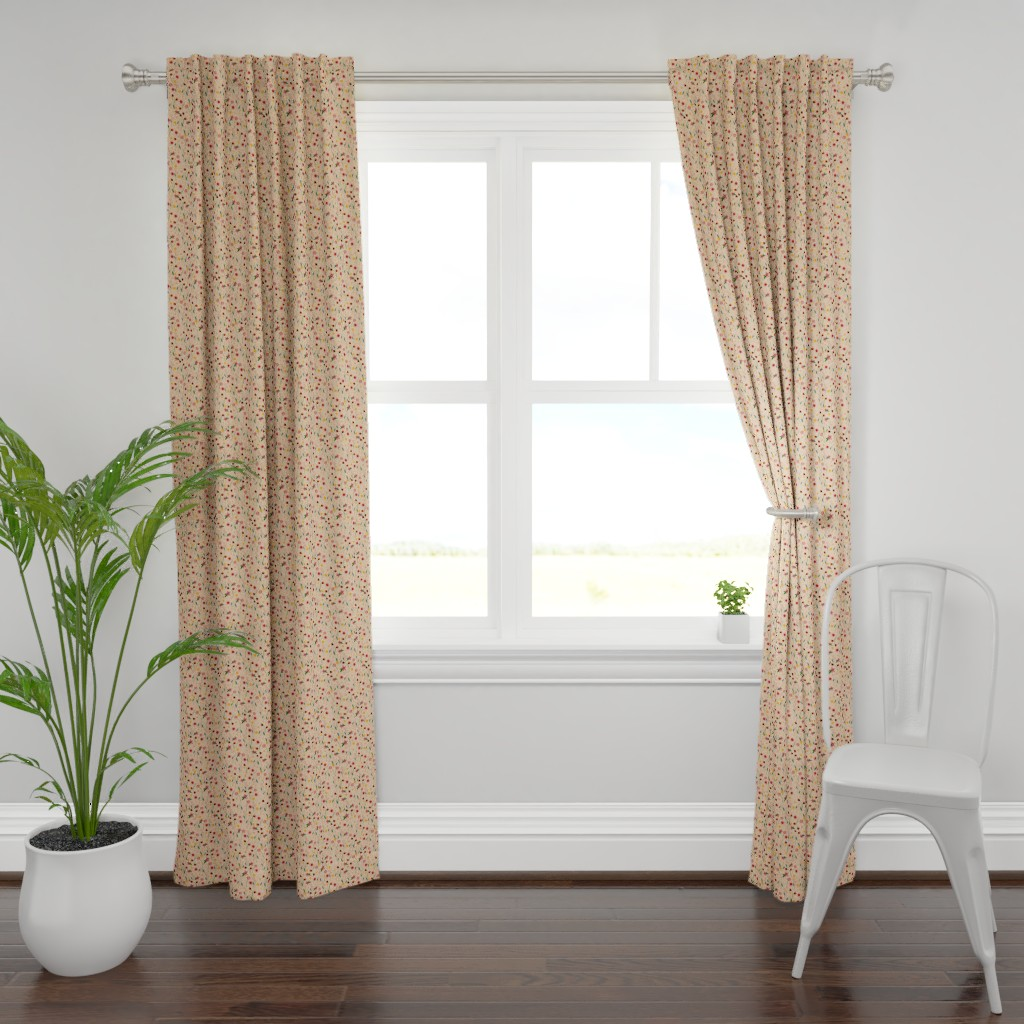 Plymouth Curtain Panel featuring Soft Pink Floral by sarah_treu