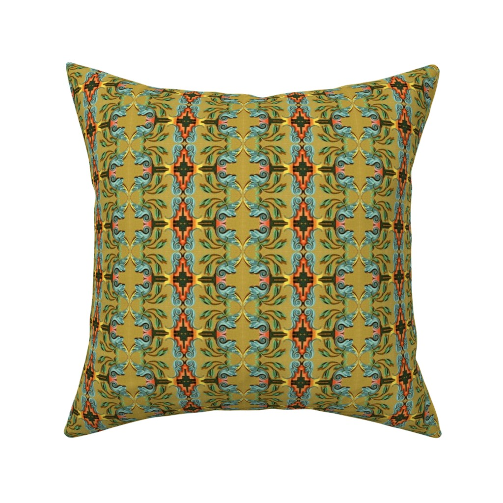 Catalan Throw Pillow featuring 16eme siecle 154 by hypersphere