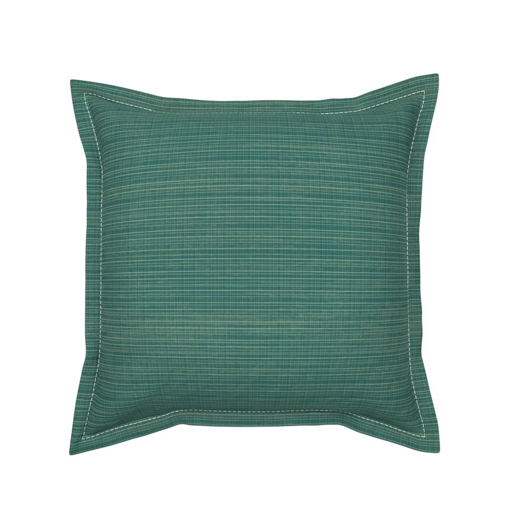 Serama Throw Pillow featuring Tiny Teal Plaid by sarah_treu