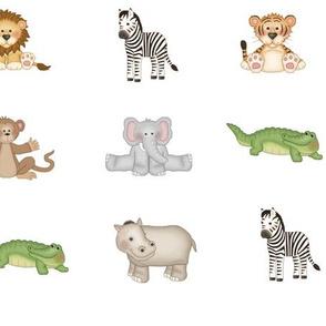 Safari Animals Baby Nursery