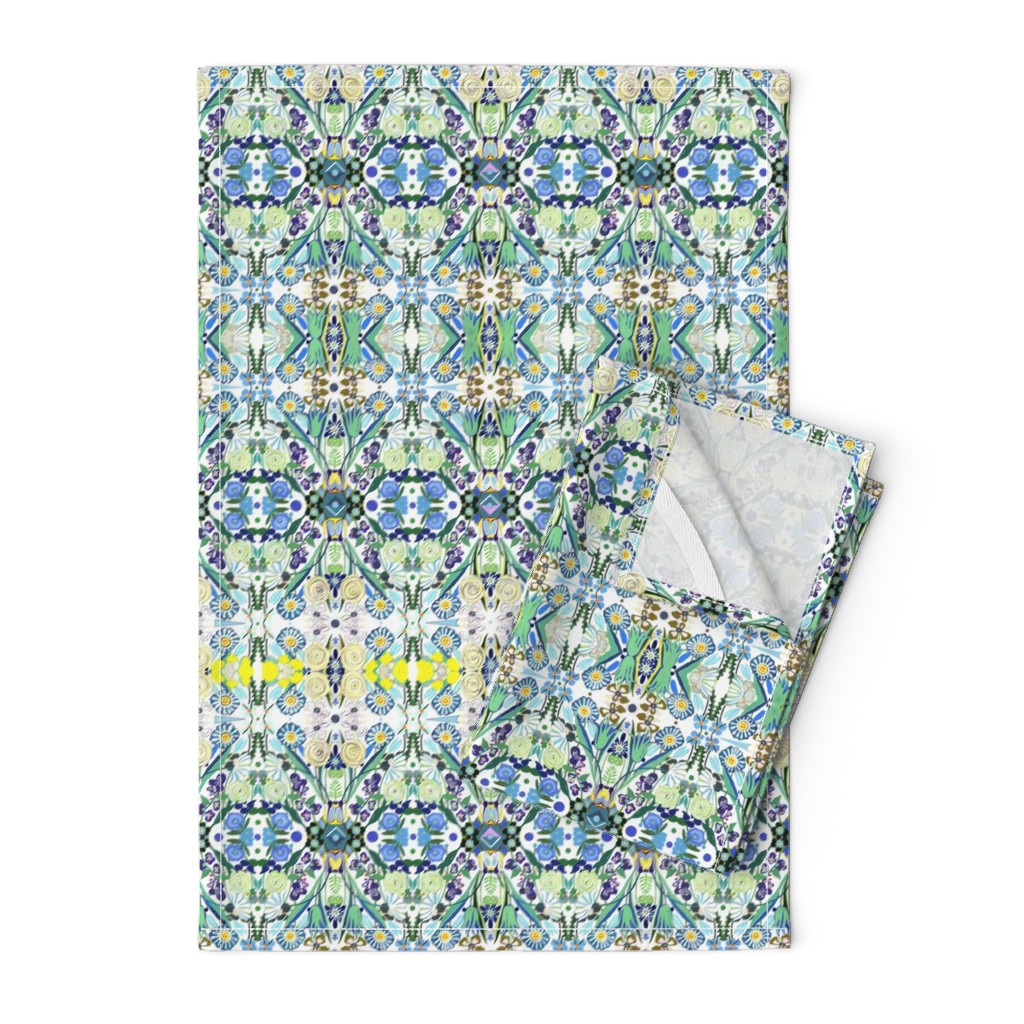 Orpington Tea Towels featuring Berne Jardin 2P s by colortherapeutics