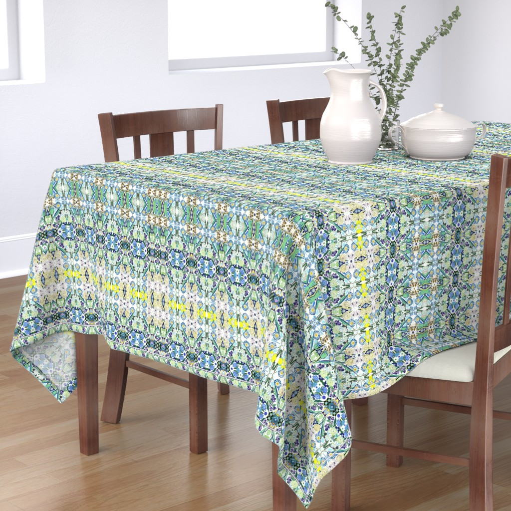 Bantam Rectangular Tablecloth featuring Berne Jardin 2P s by colortherapeutics
