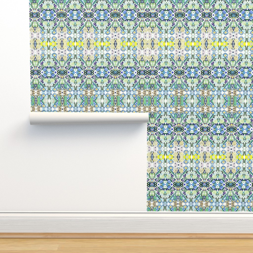 Isobar Durable Wallpaper featuring Berne Jardin 2P s by colortherapeutics