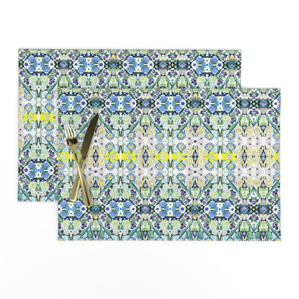 Lamona Cloth Placemats featuring Berne Jardin 2P s by colortherapeutics