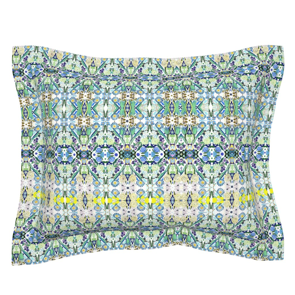 Sebright Pillow Sham featuring Berne Jardin 2P s by colortherapeutics