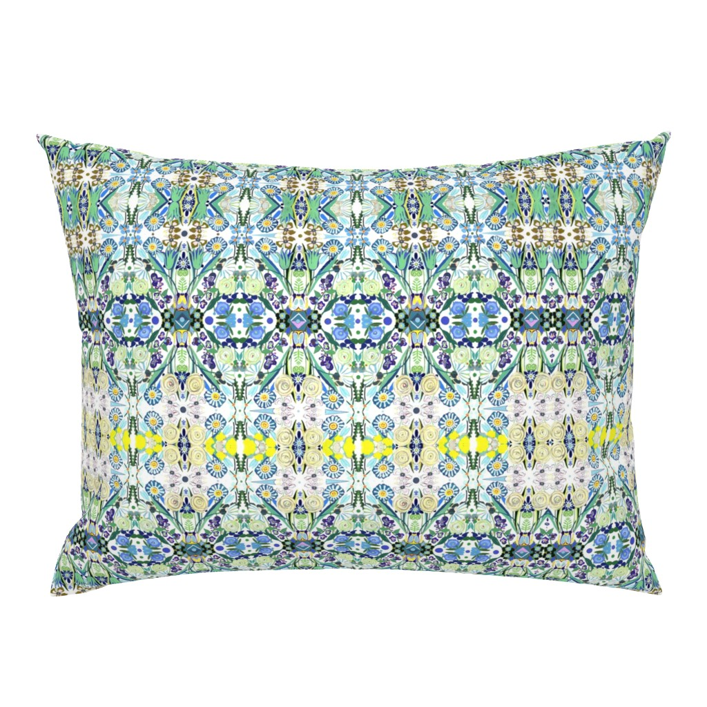 Campine Pillow Sham featuring Berne Jardin 2P s by colortherapeutics