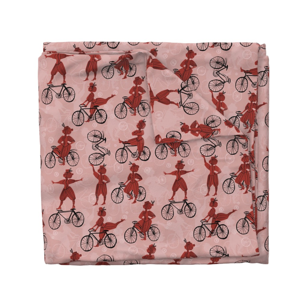Wyandotte Duvet Cover featuring The Velocipedestrienne by mariaspeyer