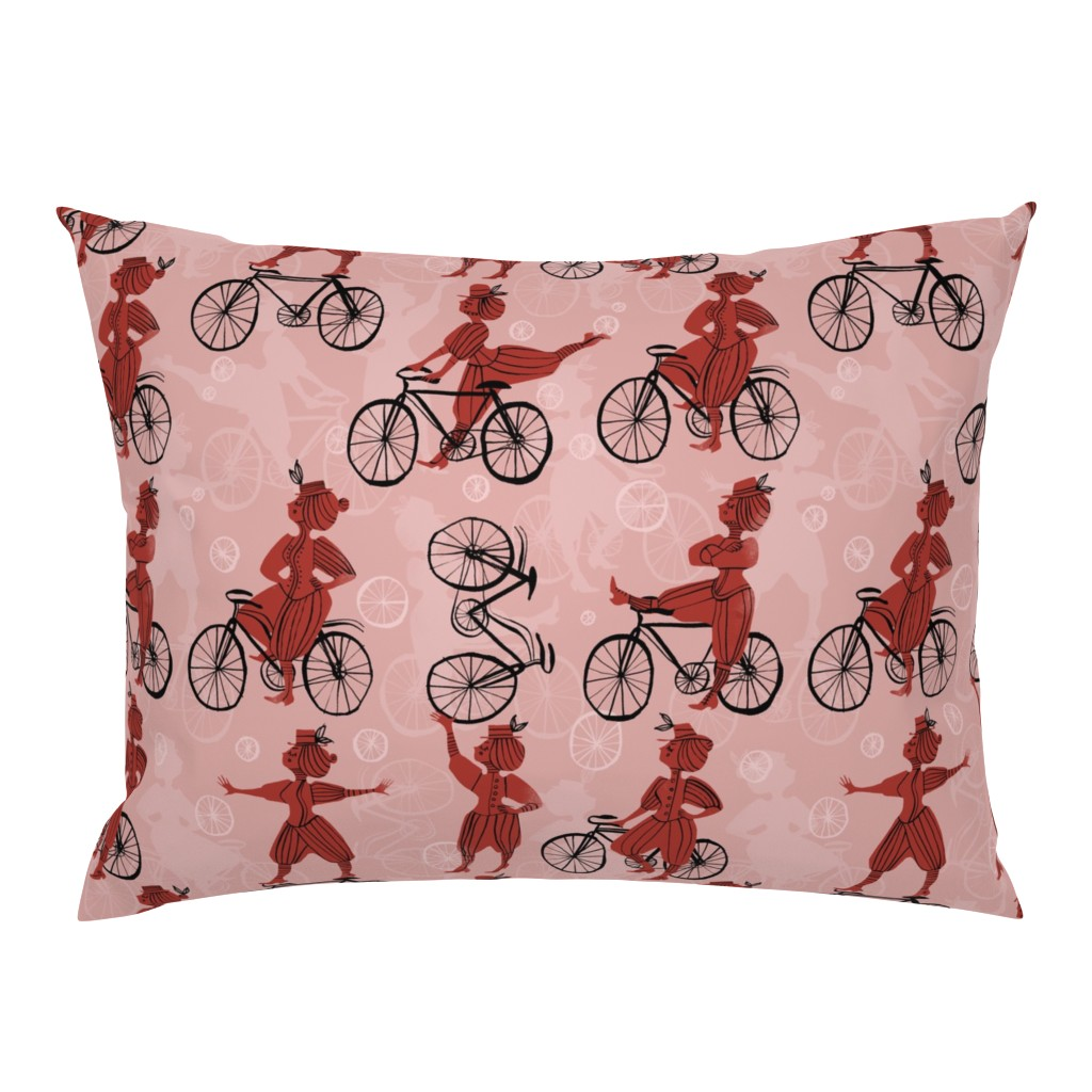 Campine Pillow Sham featuring The Velocipedestrienne by mariaspeyer