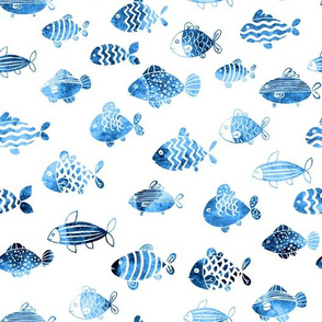 watercolor fishes
