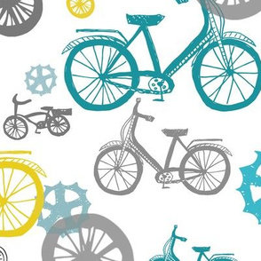 Pastel Bicycles and Wheels