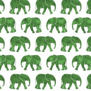 baby elephants - green