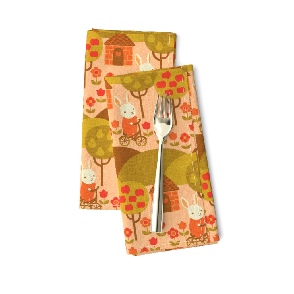 Amarela Dinner Napkins featuring Autumn Ride by ceciliamok