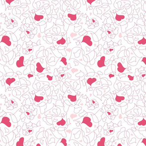 Pink Heart Leaf