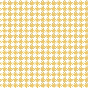Yellow and white houndstooth small