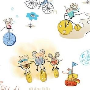 cheesy riders - mices on cheesy bikes