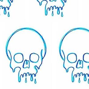 Dripping Skull Blue
