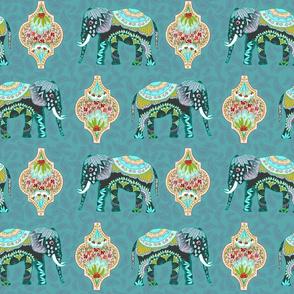 Elefant Procession, by Susanne Mason