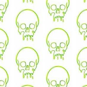 Dripping Skull green