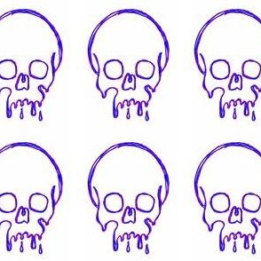 Dripping Skull purple