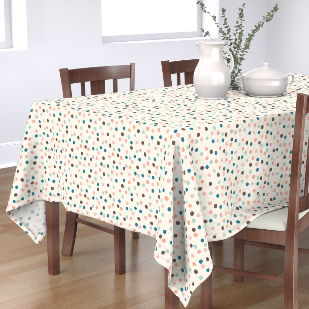 Bantam Rectangular Tablecloth featuring Pretty Confetti by lisanorrisartworks