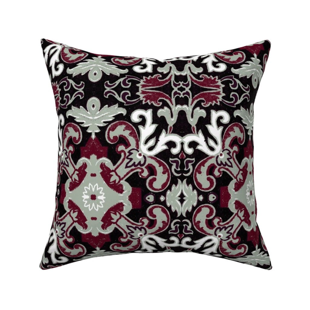 Catalan Throw Pillow featuring 17eme siecle holiday by hypersphere