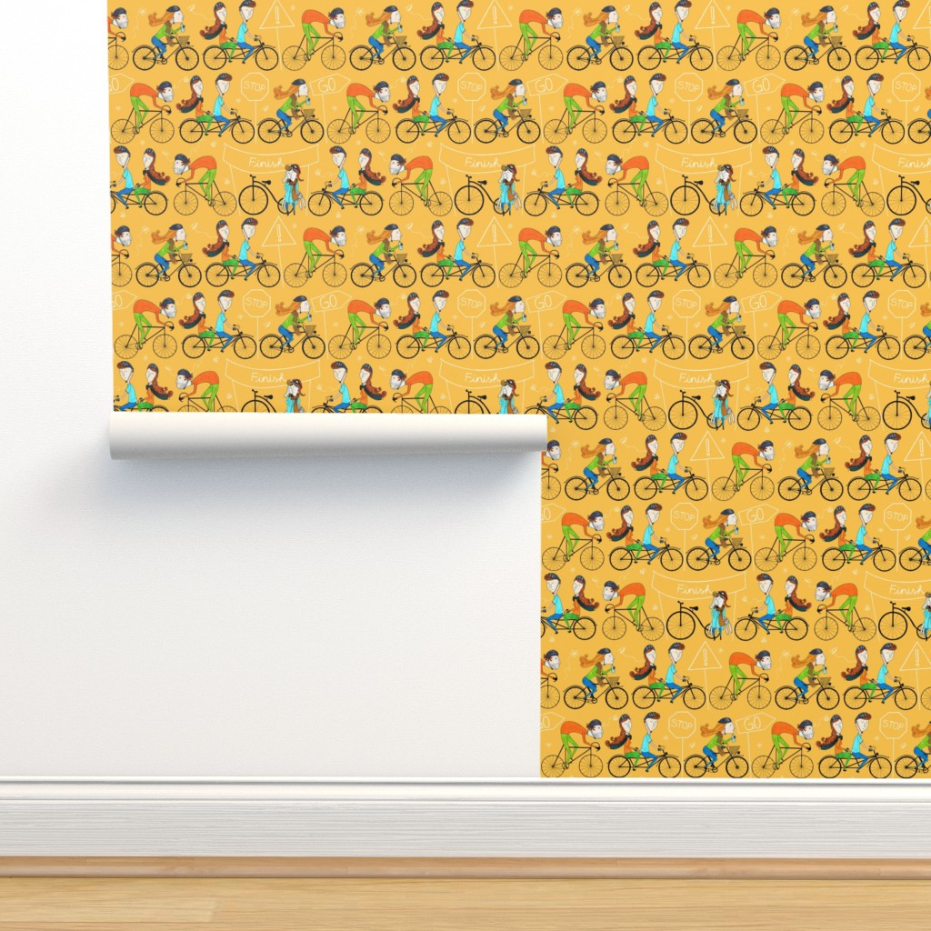 Isobar Durable Wallpaper featuring Pattern #81 - I love cycling!  by irenesilvino