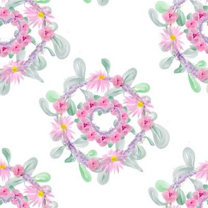 Watercolour Double Floral Wreath