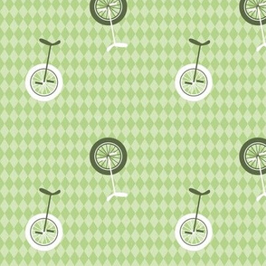 unicycles light green