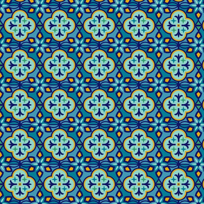 Marrakesh Inspired Tiles in Blue Hues