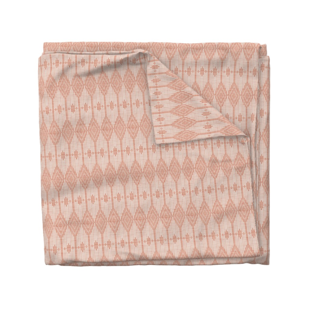 Wyandotte Duvet Cover featuring West End - Pink and Cream by heatherdutton