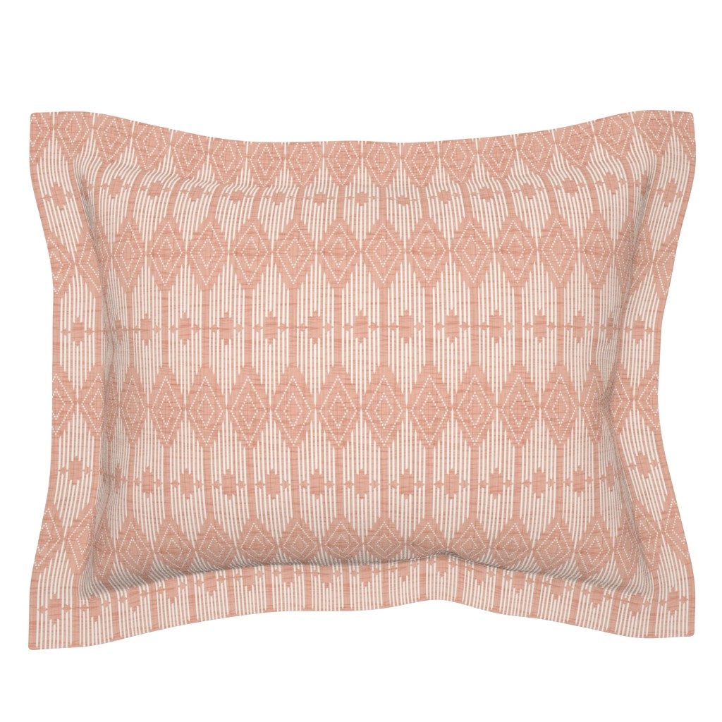 Sebright Pillow Sham featuring West End - Pink and Cream by heatherdutton