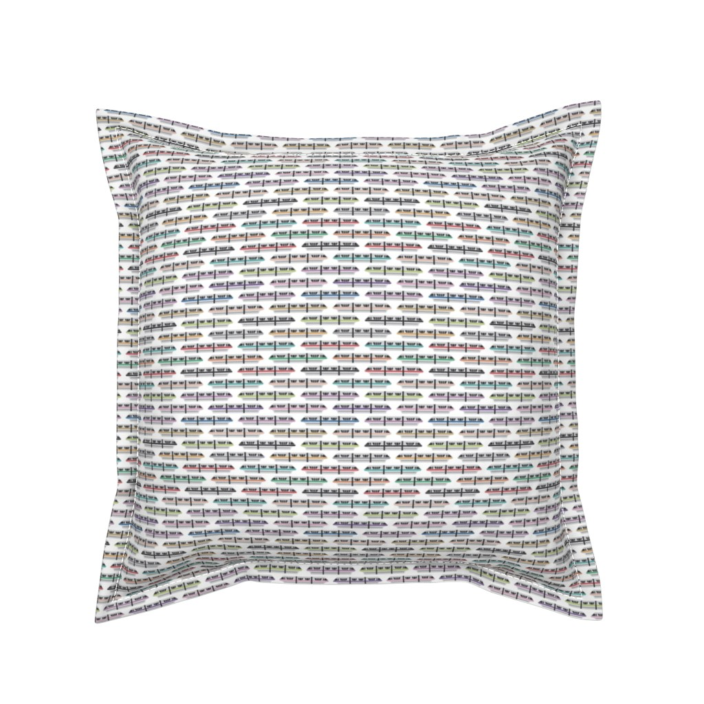 Serama Throw Pillow featuring All Monorails by the_wookiee_workshop