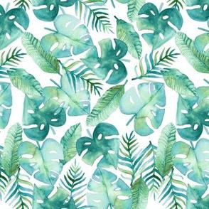 Cyan Tropical Jungle