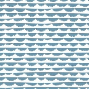 Small clouds // mint-white  // Fun Fair Collection