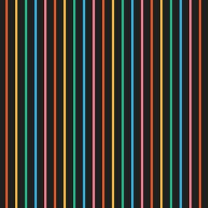 Dark Rainbow Stripes
