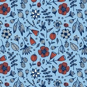 wild flora // blue // in bloom collection