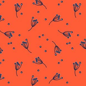 berry bits // red orange // in bloom collection