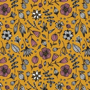 wild flora // mustard // in bloom collection