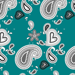 Paisley Play on Teal