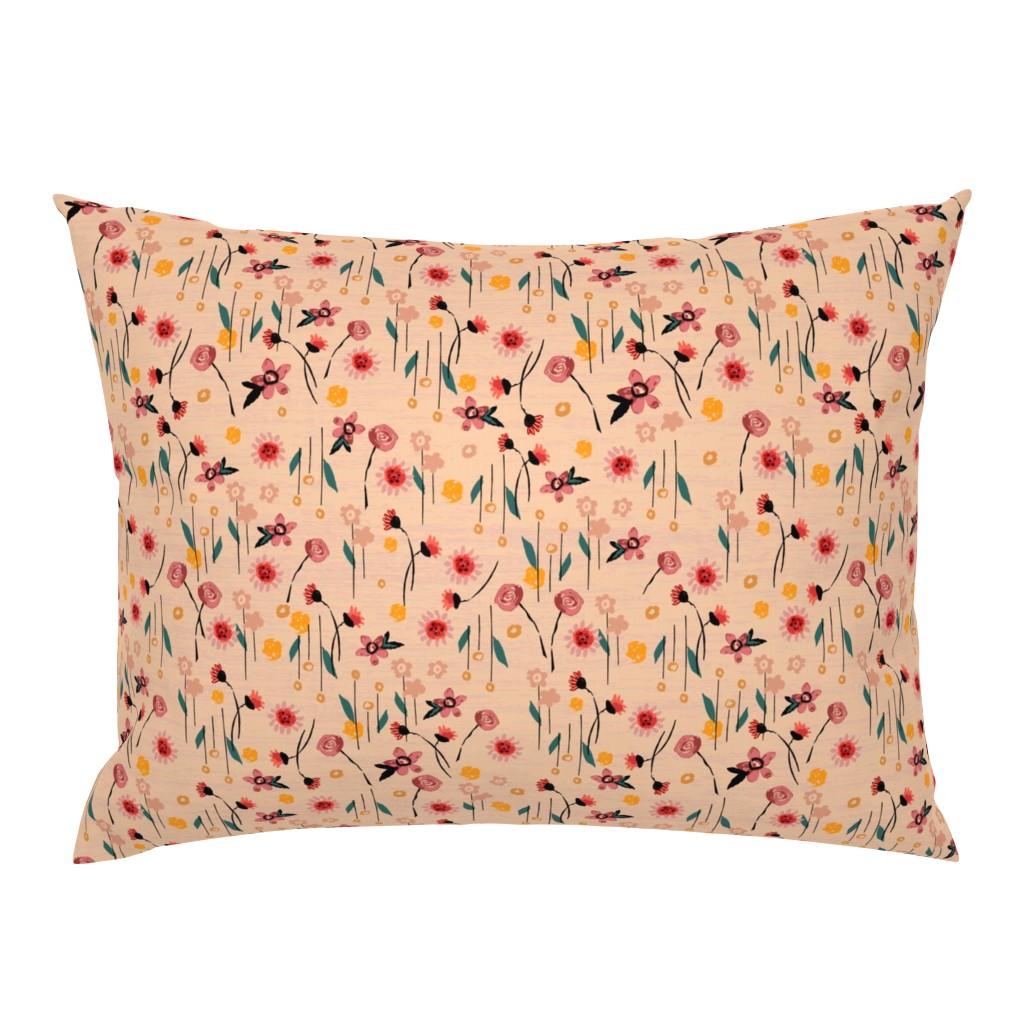 Campine Pillow Sham featuring Soft Pink Floral by sarah_treu