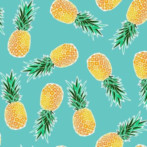 Tropical Pineapple - Turquoise